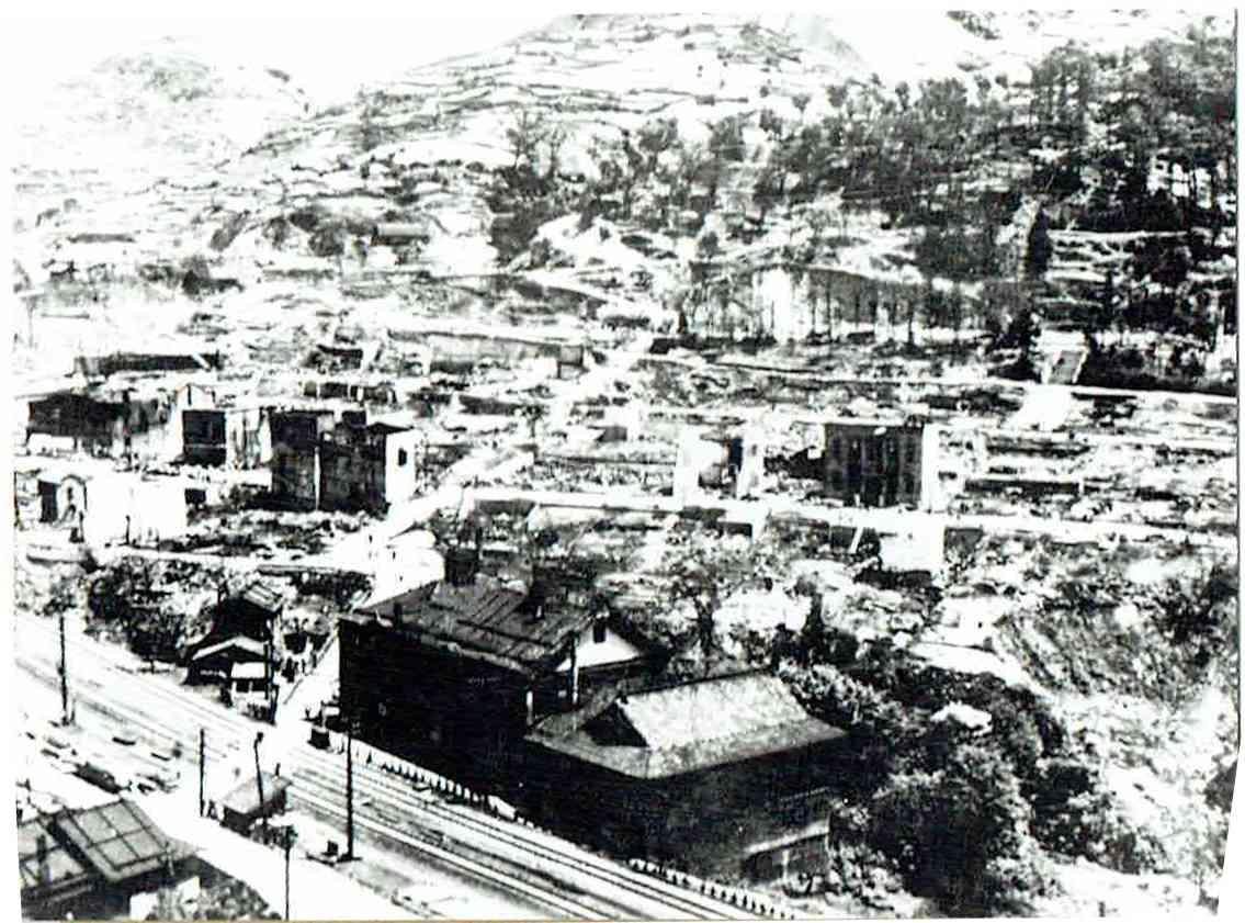 大火にあった夕張本町
