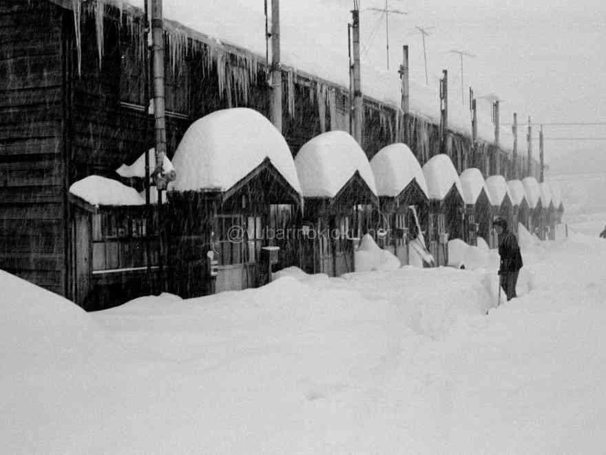 昭和48年12月20日、大雪の宮前町電力所住宅