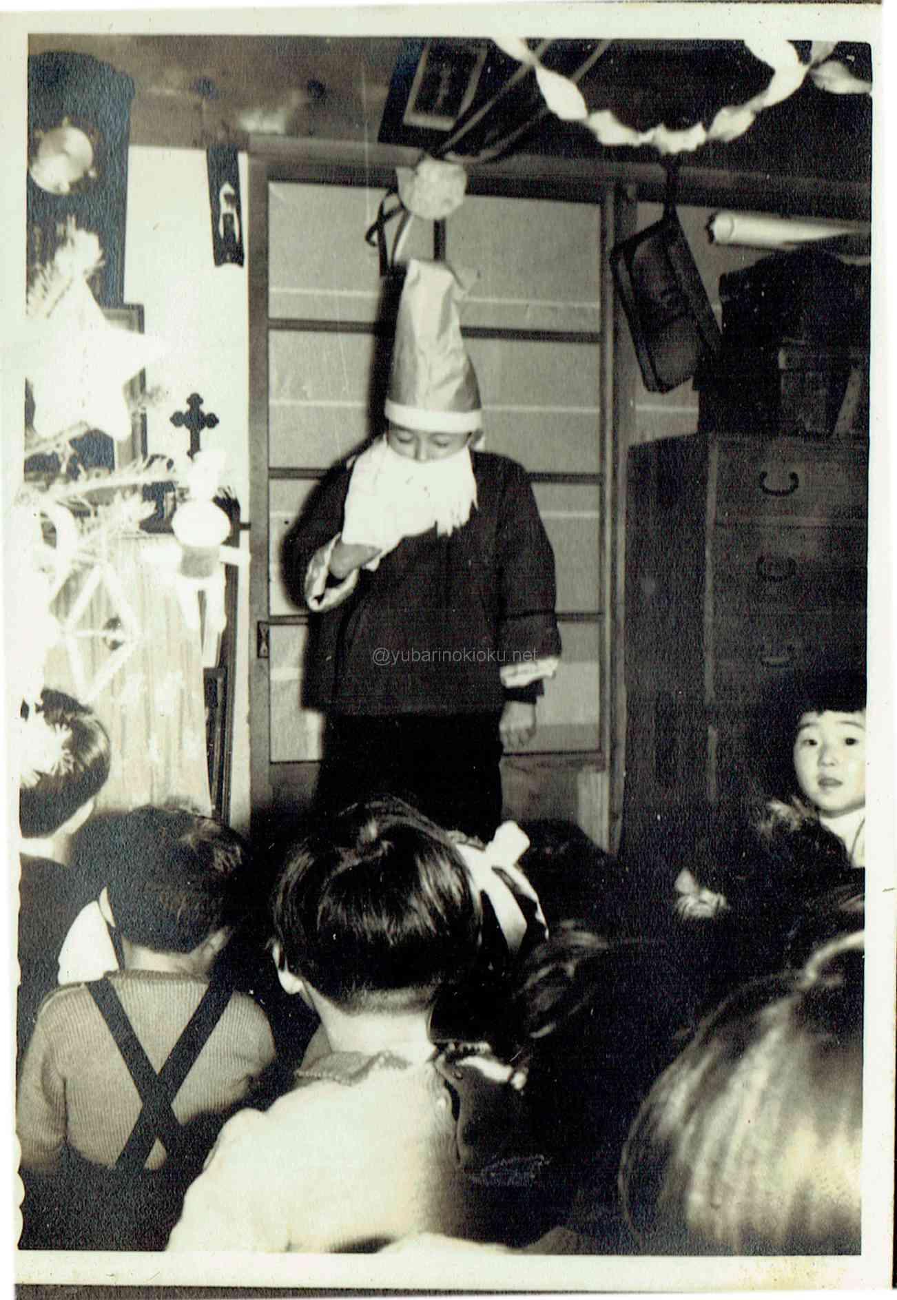 昭和35年頃のクリスマス会。南清水沢にて